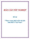 Đề tài tốt nghiệp: Thực trạng phát triển du lịch sinh thái ở Việt Nam
