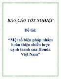 Đề tài: Một số biện pháp nhằm hoàn thiện chiến lược cạnh tranh của Honda Việt Nam