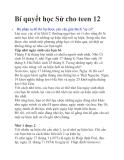 Bí quyết học Sử cho teen 12   Bộ phận ra đề thi Sử được yêu cầu giải