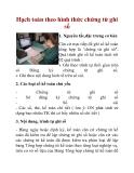 Hạch toán theo hình thức chứng từ ghi sổ