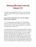 Hướng dẫn hạch toán tài khoản 112