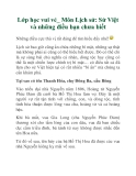 Lớp học vui vẻ_ Môn Lịch sử: Sử Việt và những điều bạn chưa biết