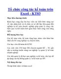 Tổ chức công tác kế toán trên Excel - KT03