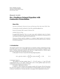 """báo cáo hóa học:"""" Research Article On a Nonlinear Integral Equation with Contractive Perturbation"""""""