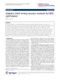 "báo cáo hóa học:"" Adaptive blind timing recovery methods for MSE optimization"""