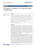 """báo cáo hóa học:""""  The status of Cantonese in the education policy of Hong Kong"""""""