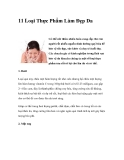 11 Loại Thực Phẩm Làm Đẹp Da
