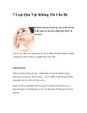 7 Loại Quà Vặt Không Tốt Cho Bé