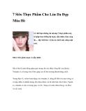7 Siêu Thực Phẩm Cho Làn Da Đẹp Mùa Hè