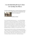 Các Chất Dinh Dưỡng Bổ Sung Và Thuốc Cho Vận Động Viên (Phần 1)