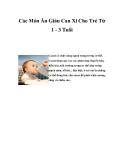 Các Món Ăn Giàu Can Xi Cho Trẻ Từ 1 - 3 Tuổi