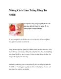Những Cách Làm Trắng Răng Tự Nhiên
