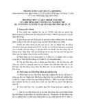 PHƯƠNG THỨC VÀ QUY TRÌNH LÀM VIỆC CỦA HỘI ĐỒNG KHCN ĐÁNH GIÁ, NGHIỆM THU DỰ ÁN NTMN CẤP TỈNH ỦY QUYỀN ĐỊA PHƯƠNG QUẢN LÝ