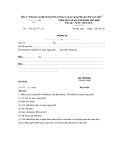 Mẫu 5- Thông tư của Bộ trưởng/Thủ trưởng cơ quan ngang Bộ (quy định trực tiếp )