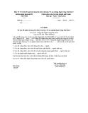 """Mẫu 15: Tờ trình đề nghị xét tặng Kỷ niệm chương """"Vì sự nghiệp Ngân hàng Việt Nam"""""""