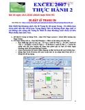 Excel 2007-Thực hành 2