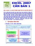 Excel 2007 căn bản 1