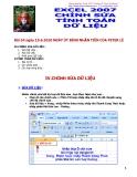 Excel 2007-Chỉnh sửa tính toán dữ liệu