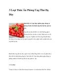 3 Loại Thức Ăn Phòng Ung Thư Dạ Dày