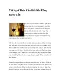 Vài Nghi Thức Cần Biết Khi Uống Rượu Cần