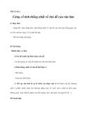 Tiết 13,14,1 :Củng cố tính thống nhất về chủ đề của văn bản