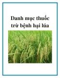 Danh mục thuốc trừ bệnh ở lúa