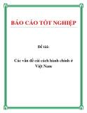 Đề tài: Các vấn đề cải cách hành chính ở Việt Nam