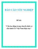 """Đề tài: """"Cầu lao động trong chuyển dịch cơ cấu kinh tế ở Việt Nam hiện nay"""""""