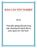 """Đề tài """"Tìm hiểu những đổi mới trong cuộc sống khuyến khích đầu tư nước ngoài của Việt Nam"""""""