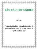 """Đề tài: """"Một số giải pháp nhằm hoàn thiện và phát triển các công ty chứng khoán ở Việt Nam hiện nay"""" sẽ"""