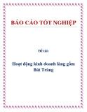 Đề tài: Hoạt động kinh doanh làng gốm Bát Tràng