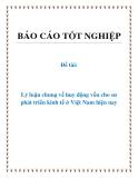 Đề tài: Lý luận chung về huy động vốn cho sư phát triển kinh tế ở Việt Nam hiện nay