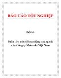 Đề tài: Phân tích một số hoạt động quảng cáo của Công ty Motorola Việt Nam