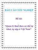 Đề tài: Quản lý thuế theo cơ chế tự khai, tự nộp ở Việt Nam