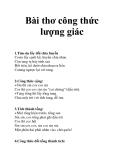 Bài thơ công thức lượng giác