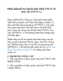 Phần mềm hỗ trợ Quyết toán Thuế TNCN 2.0 thay cho TNCN 1.2