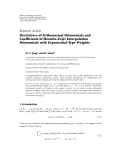 """báo cáo hóa học:""""   Research Article Derivatives of Orthonormal Polynomials and ´ Coefficients of Hermite-Fejer Interpolation """""""