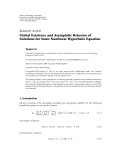 """báo cáo hóa học:""""  Research Article Global Existence and Asymptotic Behavior of Solutions for Some Nonlinear Hyperbolic Equation"""""""