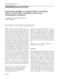 """báo cáo hóa học:""""  Preclinical Efficacy and Side Effects with Inhaled Corticosteroids Nanosuspension Formulations"""""""