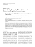 """báo cáo hóa học:""""  Research Article Spectrum Sensing for Cognitive Radios with Transmission Statistics: Considering Linear"""""""