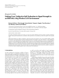 """báo cáo hóa học:"""" Research Article Linking Users' Subjective QoE Evaluation to Signal Strength in an IEEE 802.11b/g Wireless LAN Environment"""""""