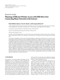 "báo cáo hóa học:""   Research Article Planning of Efficient Wireless Access with IEEE 802.16 for Connecting Home Network to the Internet"""