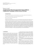 "báo cáo hóa học:""  Research Article An Information-Theoretic Approach for Energy-Efficient Collaborative Tracking in Wireless Sensor Networks"""