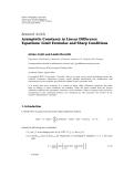 "báo cáo hóa học:""  Research Article Asymptotic Constancy in Linear """
