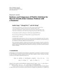"báo cáo hóa học:""   Research Article Existence and Uniqueness of Positive Solutions for Discrete Fourth-Order Lidstone Problem with a Parameter"""