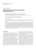 "báo cáo hóa học:""   Research Article Region Adaptive Color Demosaicing Algorithm Using Color Constancy"""