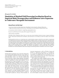 """báo cáo hóa học:""""   Research Article Simulation of Matched Field Processing Localization Based on Empirical Mode Decomposition and Karhunen-Lo` ve Expansion e in Underwater Waveguide Environment"""""""