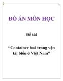 Đề tài: Container hoá trong vận tải biển ở Việt Nam