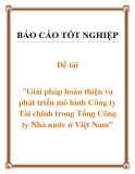 Báo cáo: Giải pháp hoàn thiện và phát triển mô hình Công ty Tài chính trong Tổng Công ty Nhà nước ở Việt Nam