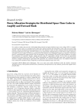 "Báo cáo hóa học: ""  Research Article Power Allocation Strategies for Distributed Space-Time Codes in Amplify-and-Forward Mode"""